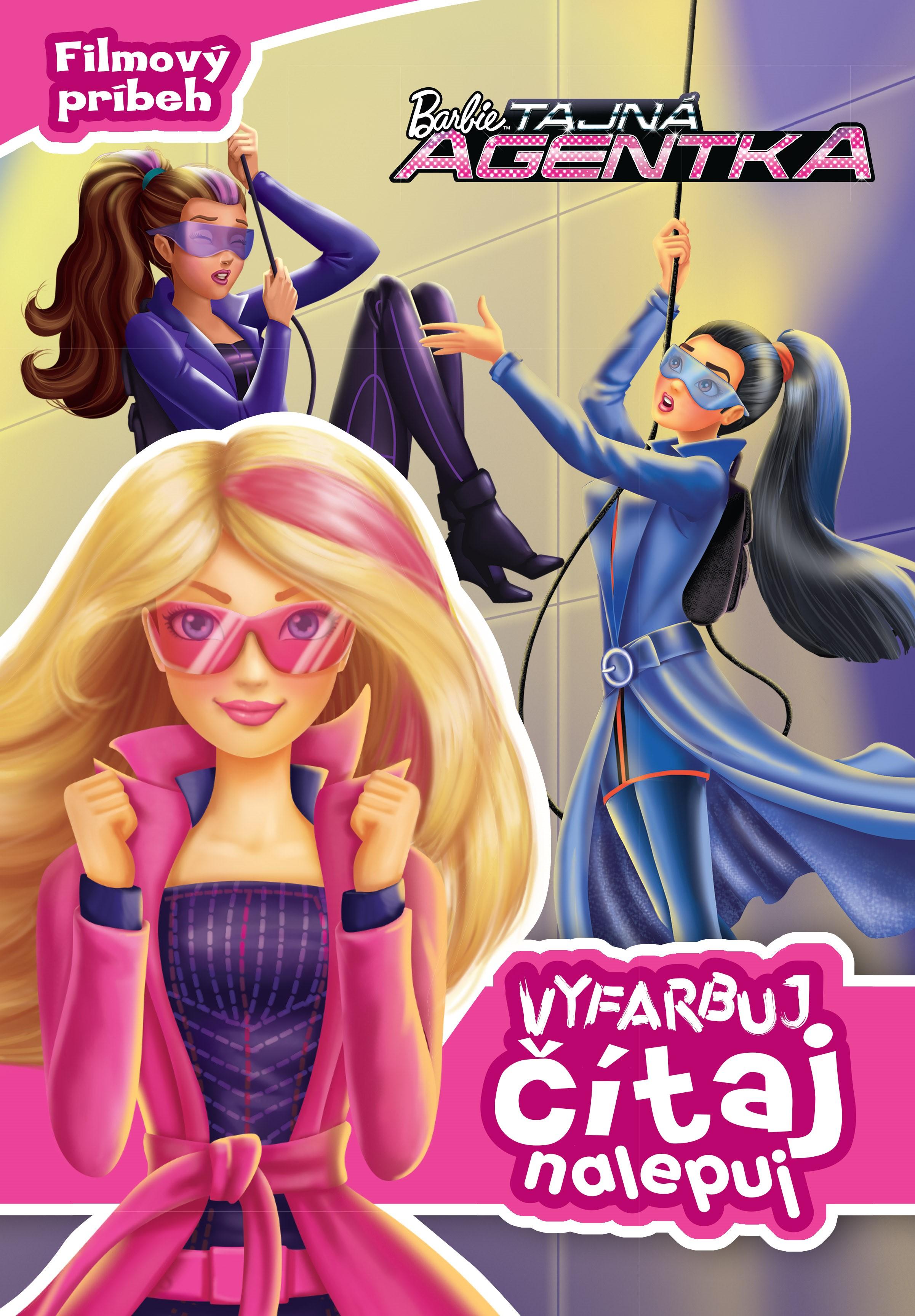 Barbie - Tajná agentka- Filmový príbeh - Vyfarbuj, čítaj, nalepuj