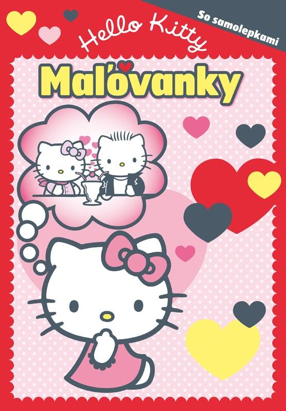 Hello Kitty - Maľovanky - So samolepkami