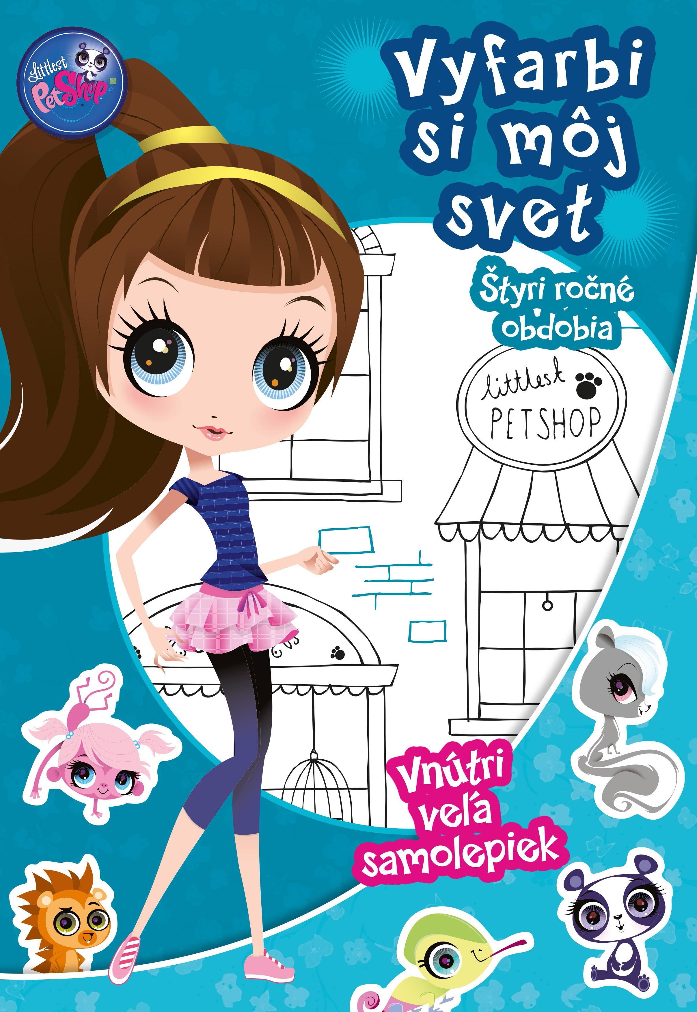 Littles Pet Shop - Vyfarbi si môj svet -Štyri ročné obdobia