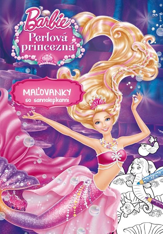Barbie - Perlová princezná - Maľovanky so samolepkami