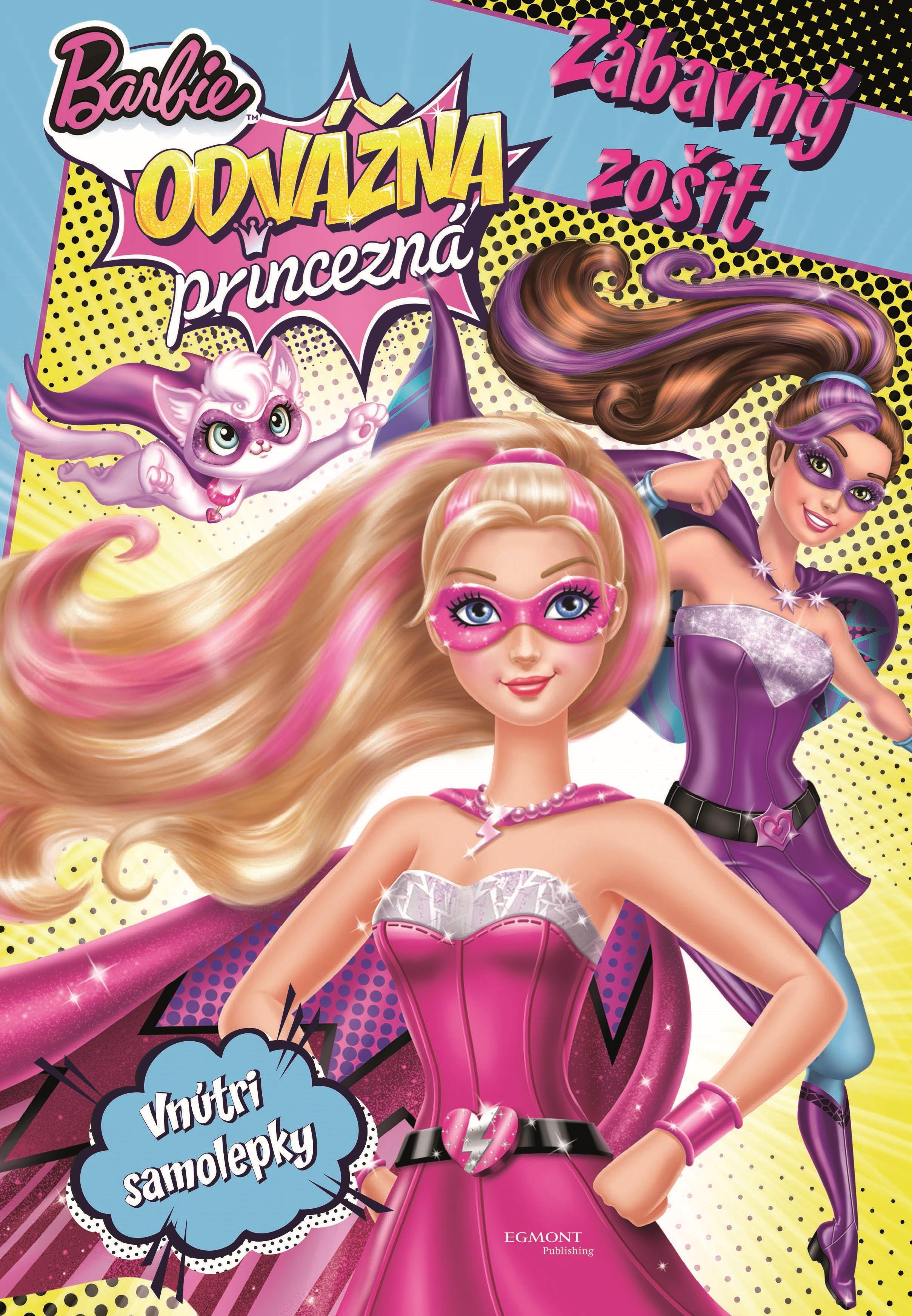 Barbie - Odvážna princezná - Zábavný zošit - Vnútri samolepky