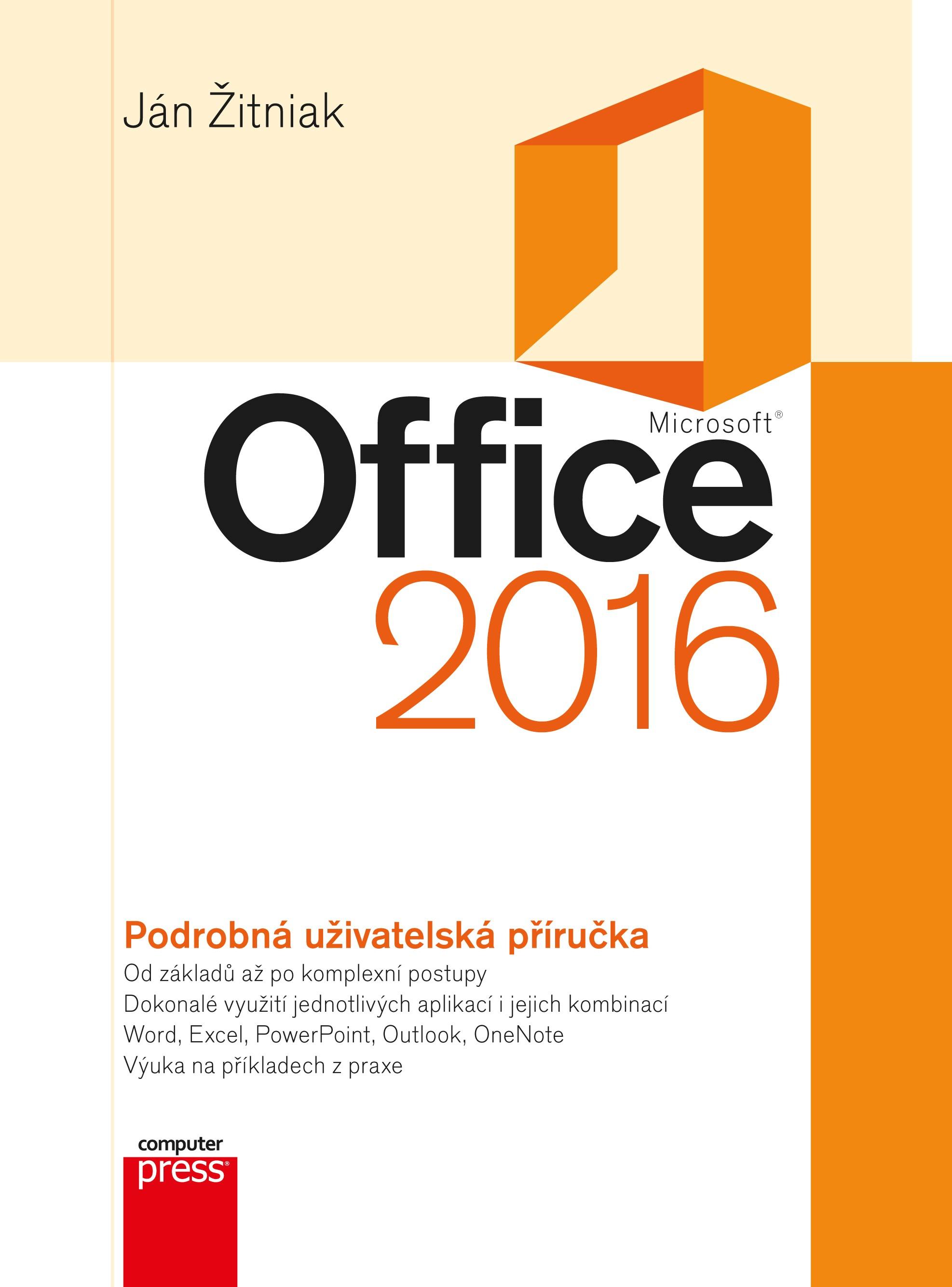 Microsoft Office 2016 Podrobná uživatelská příručka