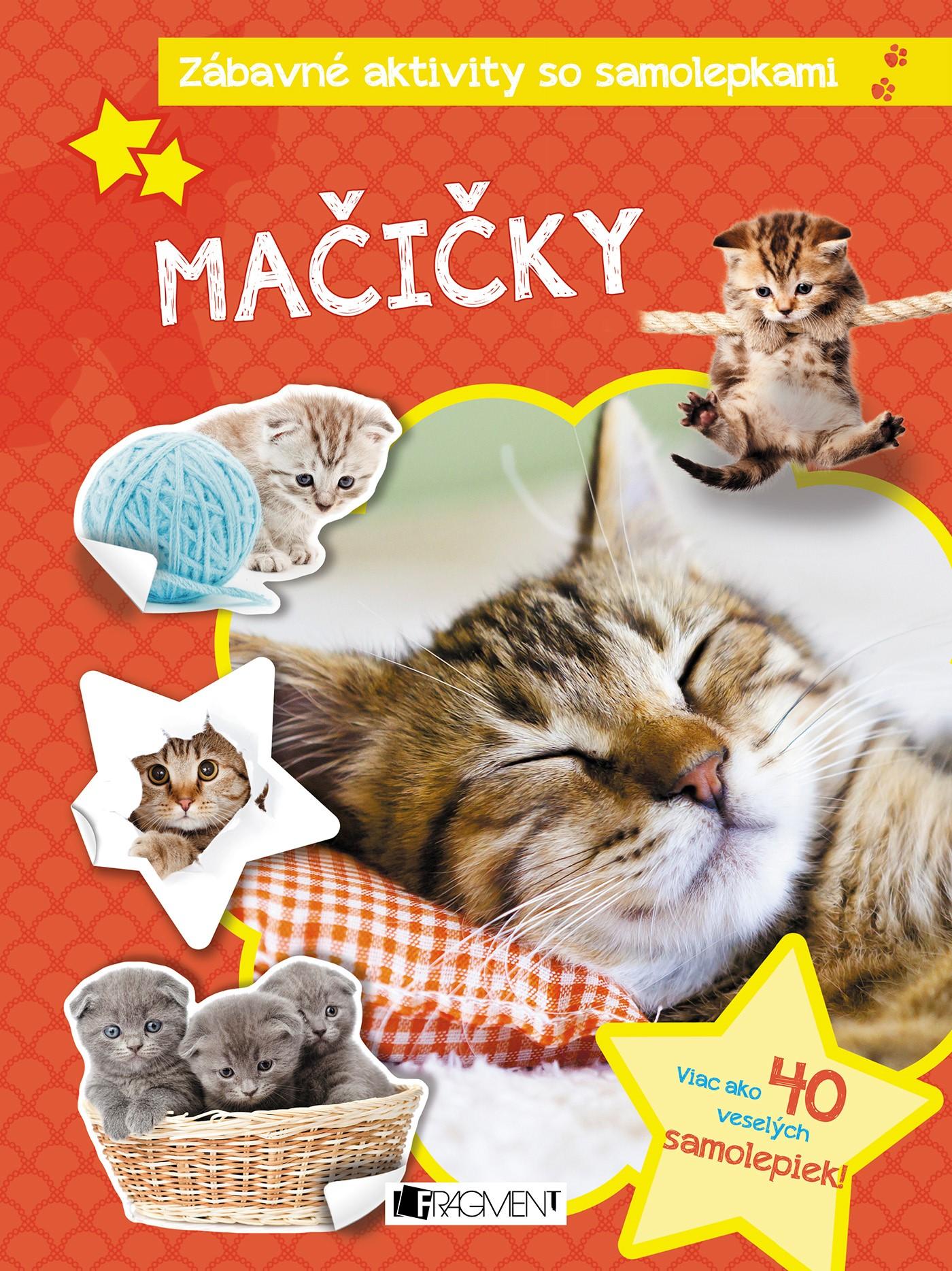 Zábavné aktivity so samolepkami - Mačičky