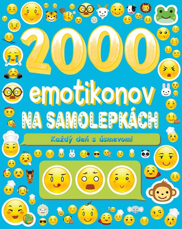 2000 emotikonov na samolepkách - Na každý deň s úsmevom